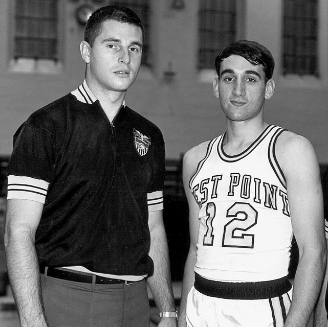 Coach Bobby Knight and Army Team Captain Mike krzyzewski