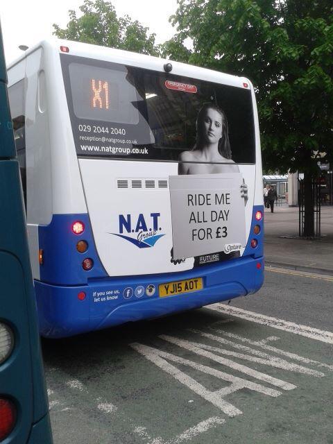 bus advert buzzazz article