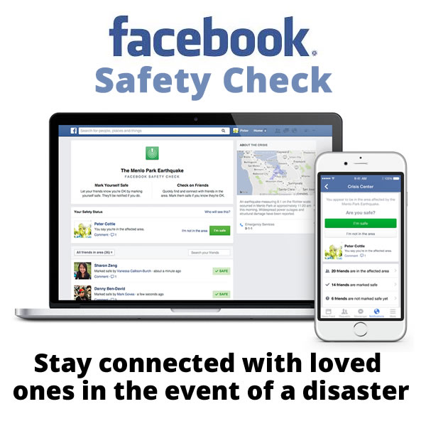 Zuckerberg Gives Us Facebook Safety Check
