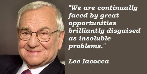 Lee Iacocca and Statue of Liberty