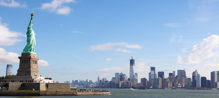 NYC, new york city and the statue of liberty and lee iacocca, keanan kintzel